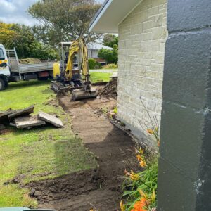 McCarthy St excacvtion for patio 22.12.2020