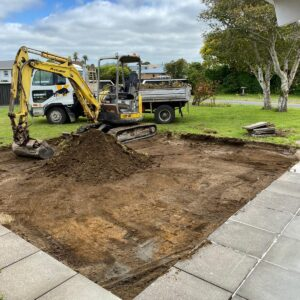 McCarthy St excacvtion for patio 3 22.12.2020